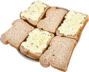 Gluten Free Sandwiches - egg, ham, cheese, soft cheese, chicken mayo, tuna mayo...