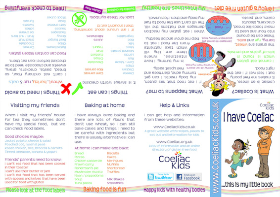 I have coeliac - a kids guide